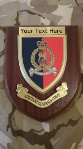 Adjutant General Corps Personalised Military Wall Plaque